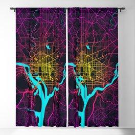Washington DC City Map of the United States - Neon Blackout Curtain
