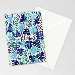 Tropical Wanderlust – Blue Stationery Cards