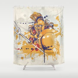 roman warrior with the trident Shower Curtain