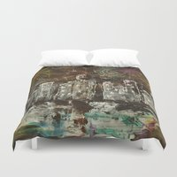 new year Duvet Covers featuring New Year by Aikunihana