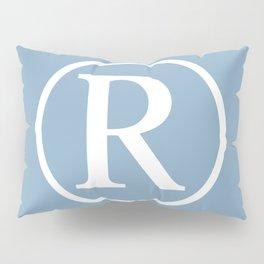 Registered Trademark Sign on placid blue background Pillow Sham