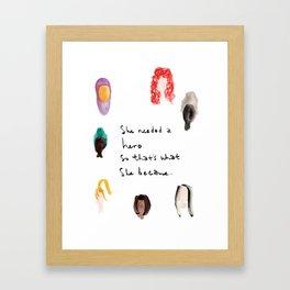 She's Her Own Hero Framed Art Print