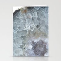 geode Stationery Cards featuring Agate Geode  by CAROL HU