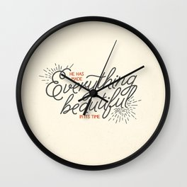 EVERYTHING BEAUTIFUL Wall Clock