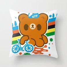 CycleBear - champignon du monde Throw Pillow