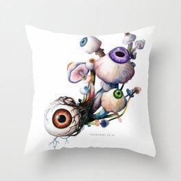 Mushrooms5 Throw Pillow