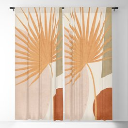 Tropical Leaf- Abstract Art 49a Blackout Curtain