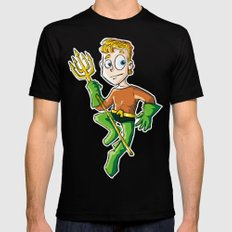 Aquaman! MEDIUM Mens Fitted Tee Black