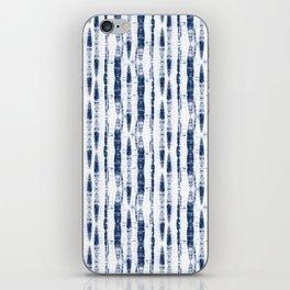 Shibori Stripes 2 Indigo Blue iPhone Skin