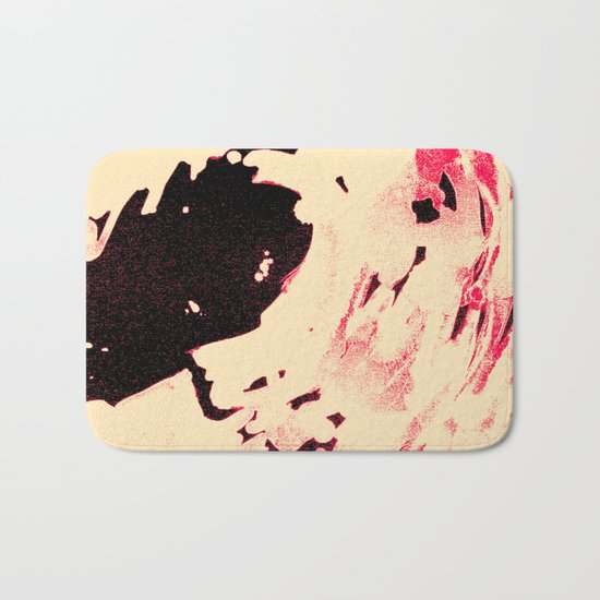 Peaches and Cream Wave for the Lovers Bath Mat