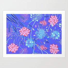 Heroinax Freaky Flowers Art Print