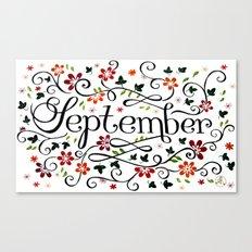 September Canvas Print