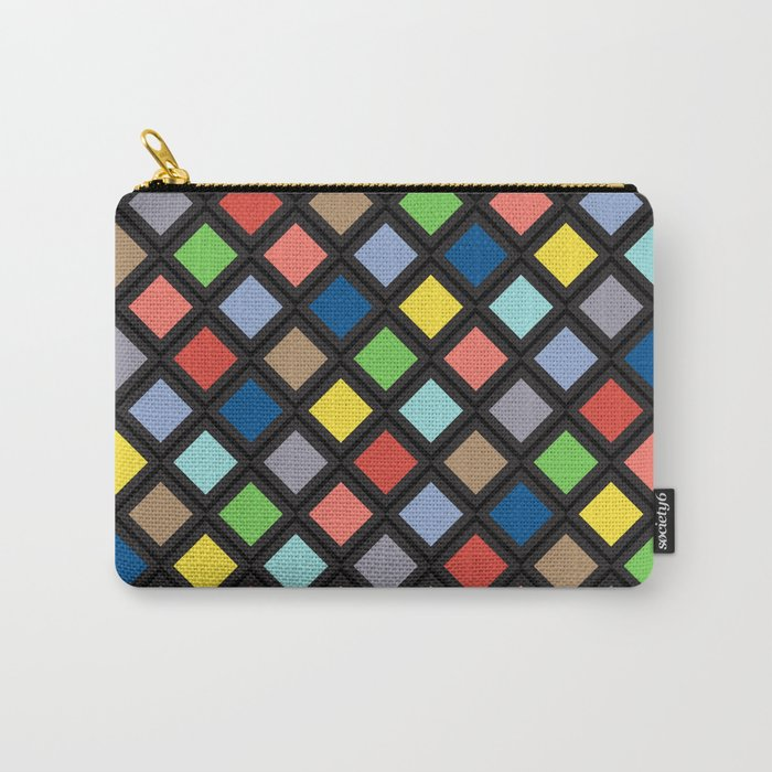 Colorful Geometric Pattern IV Carry-All Pouch