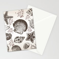Sea shells in vintage style Stationery Cards