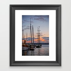 where the boats are Framed Art Print