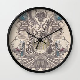 Anatomy Collage 5 Wall Clock