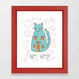 Mrs. Foxwolfhouse-New Home Framed Art Print