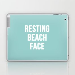 Resting Beach Face Laptop & iPad Skin