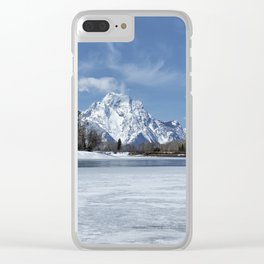Grand Tetons and Snake River from Oxbow Bend Clear iPhone Case