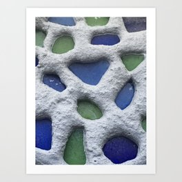Sea Glass Mosaic Detail Art Print