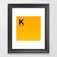 Potassium Framed Art Print