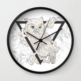 Owl Boho Wall Clock