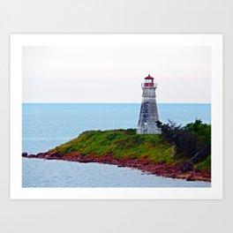 Lighthouse Cape Jourimain N-B Art Print