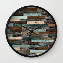 Wood in the Wall Wall Clock