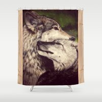 wolves Shower Curtains featuring Wolves by CLE.ArT.