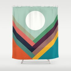 Rows of valleys Shower Curtain