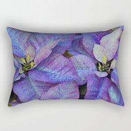 Purple poinsettia flowers Rectangular Pillow