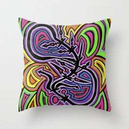 Healing on the Bends of Time. Throw Pillow