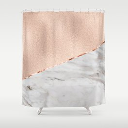 St Tropez rose gold marble Shower Curtain