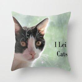 I Leik Cats Throw Pillow