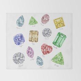 Gems pattern Throw Blanket