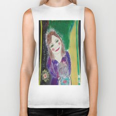 Self Love Portrait for Inner Peace  Biker Tank