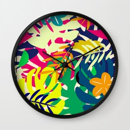 Tropical voyage Wall Clock