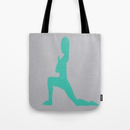 Screen printed Yoga Art - Anjaneyasana  - Low Lunge - Wild Veda Tote Bag