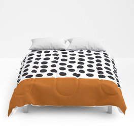 Classy Handpainted Polka Dots with Autumn Maple Comforters