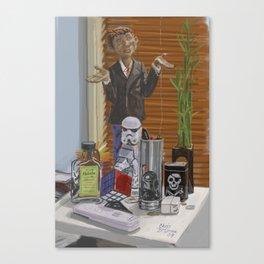 Things Near My Desk Canvas Print