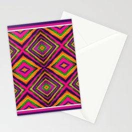 Rainbow Painted God's Eye - Pink Stationery Cards