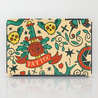 tattoos iPad Cases featuring Tattoos by Illuminany