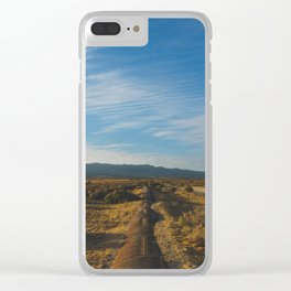 Los Angeles Aqueduct - Pacific Crest Trail, California Clear iPhone Case