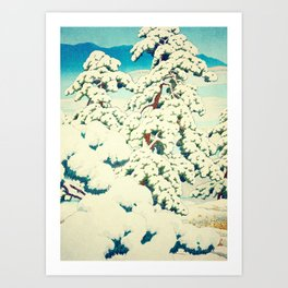 A Morning in the Snow Art Print