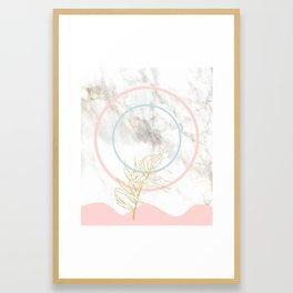 Marble Sun Moon Framed Art Print
