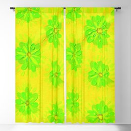 Lemon Lime Rose Blackout Curtain