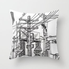 HUMAN DEBRIS Throw Pillow