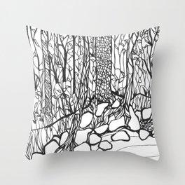 Mud Creek Drawing 2018 Throw Pillow