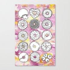 DONUTS OR DOUGHNUTS? Canvas Print