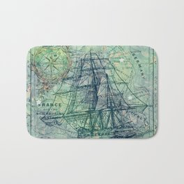 Vintage Clipper Ship Bath Mat